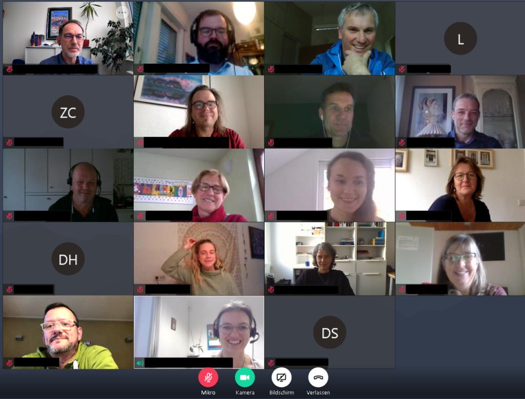 Bildschirmfoto aus der Videokonferenz